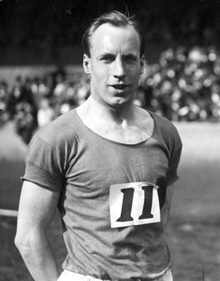 Eric Liddell, The Flying Scot (image from www.virginmedia.com)