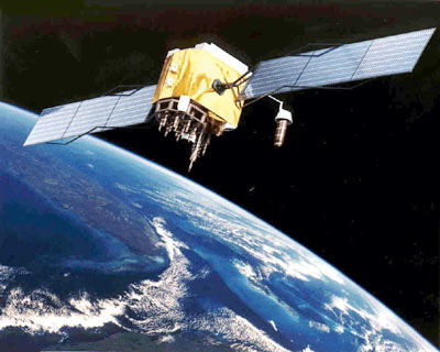 GPS satellite in orbit